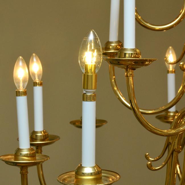 Led Light Bulbs Chandelier: Chandelier LED Light Bulb, Clear Bent Tip Brass
