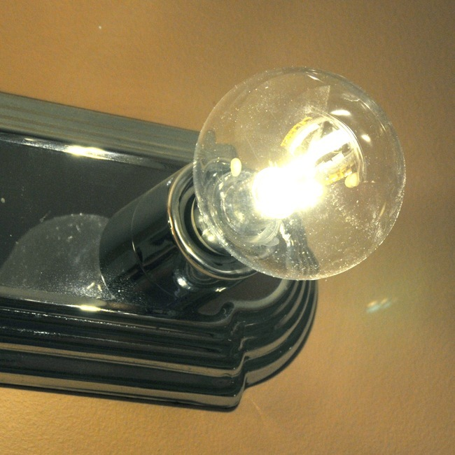 g25 led globe shaped light bulb 3 5 watt clear. Black Bedroom Furniture Sets. Home Design Ideas