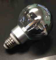 G25 LED Energy-Saving Lamp, Clear Silver Bowl, 5 Watt